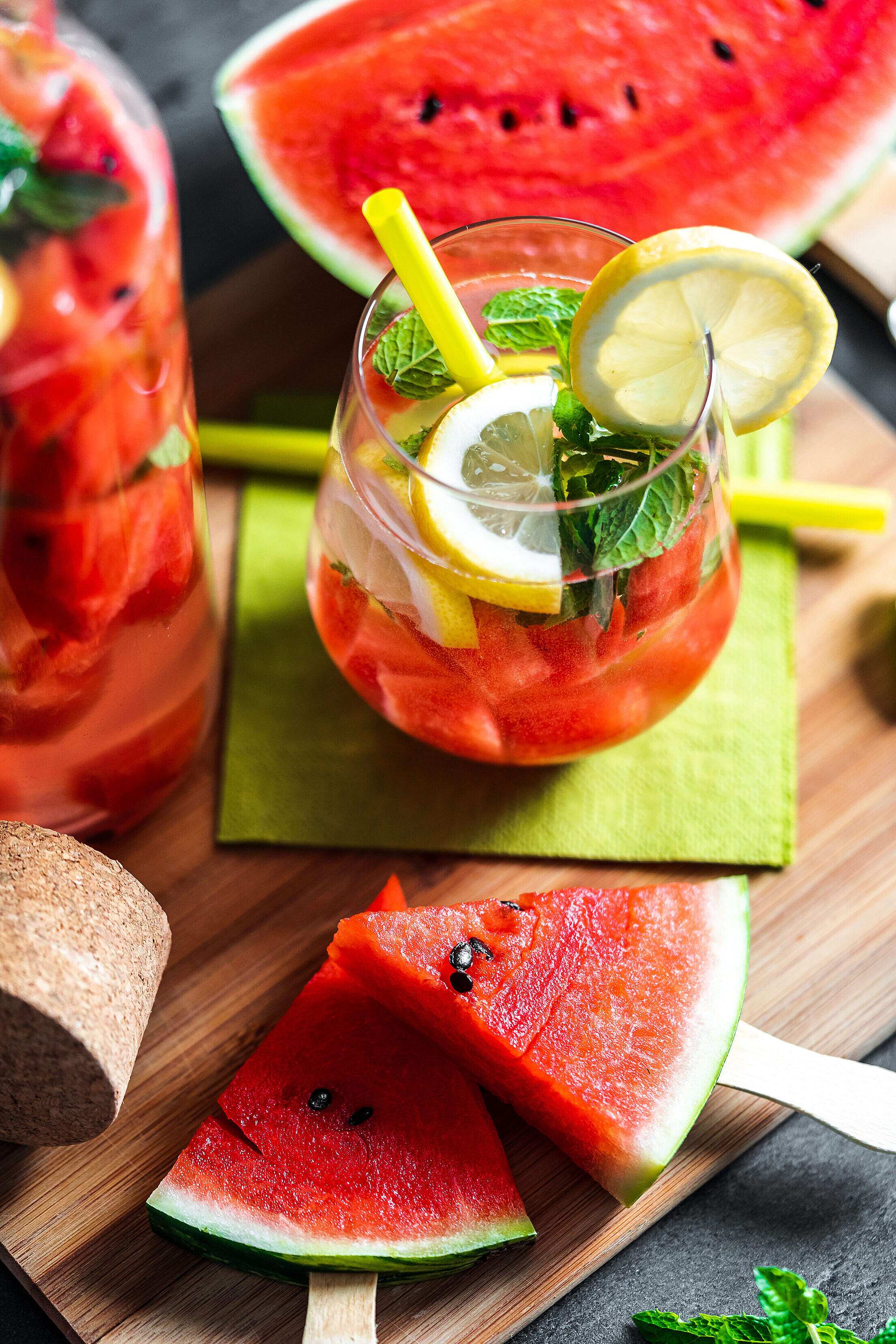 Watermelon Healthy Snack and Drink Free Stock Photo