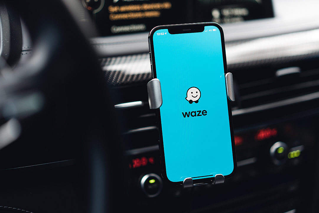 Download Waze Navigation FREE Stock Photo