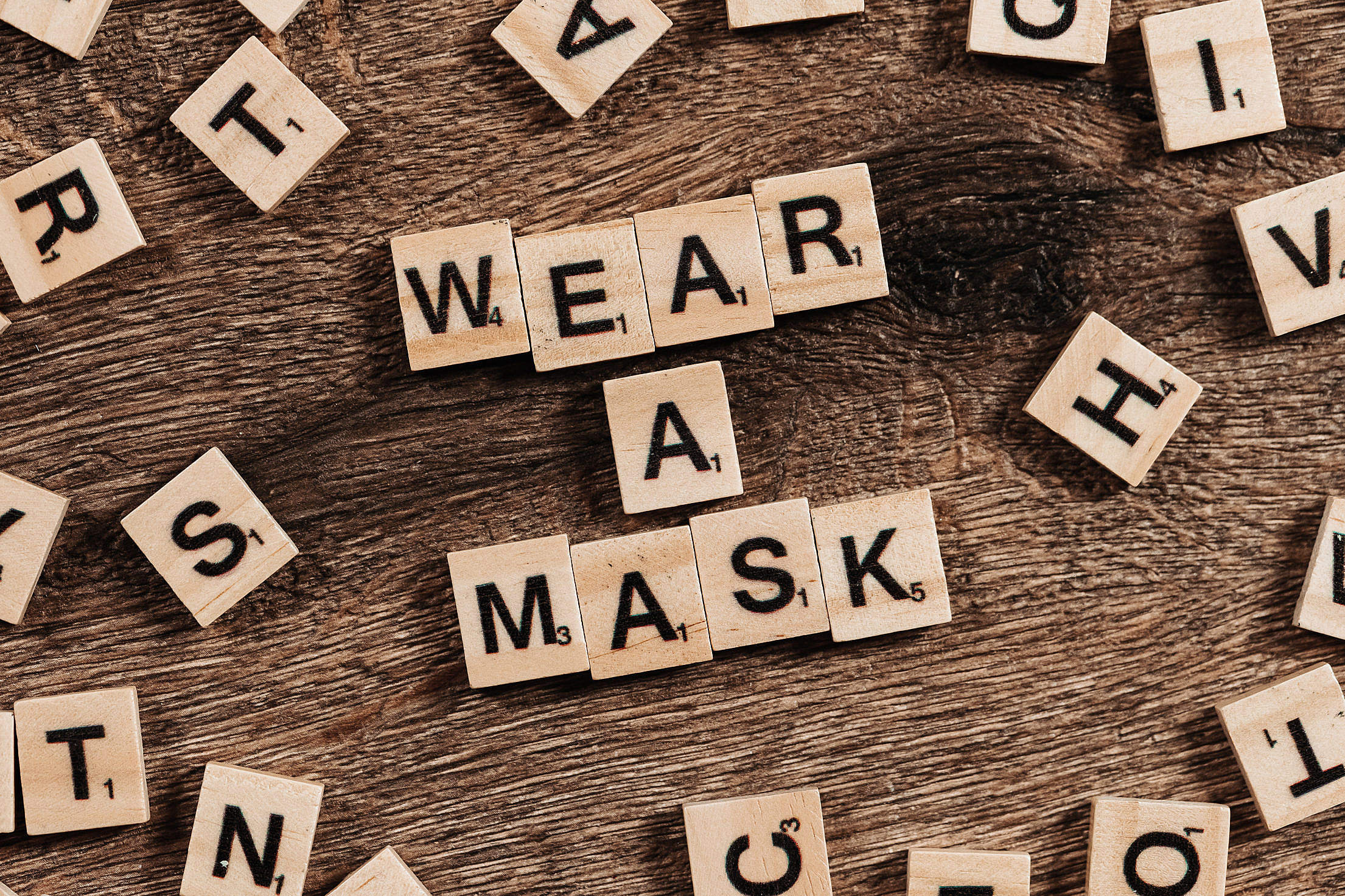 Wear a Mask Lettering Notice Covid Face Masks Free Stock Photo
