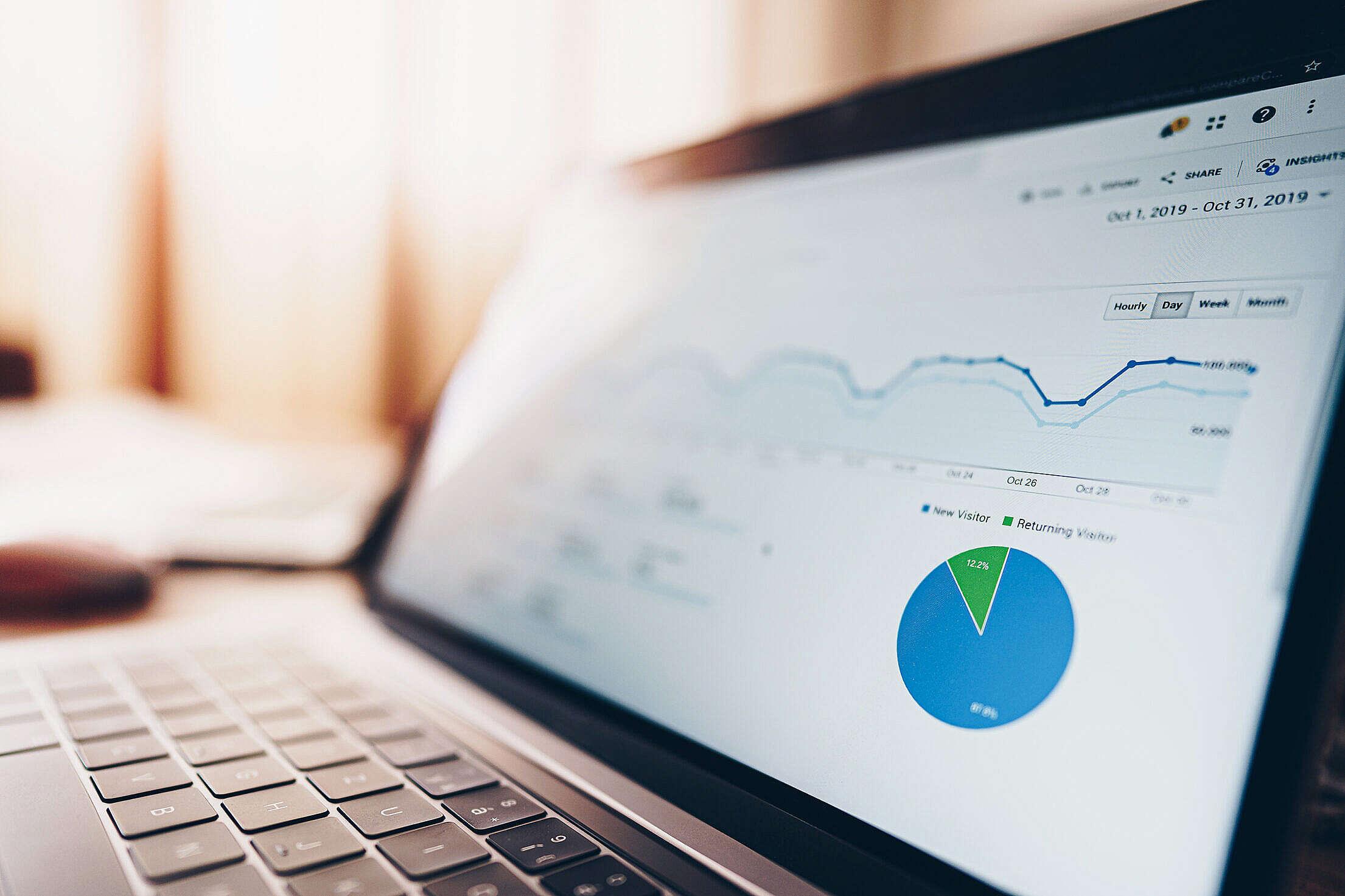 Website Traffic Data Analytics Free Stock Photo