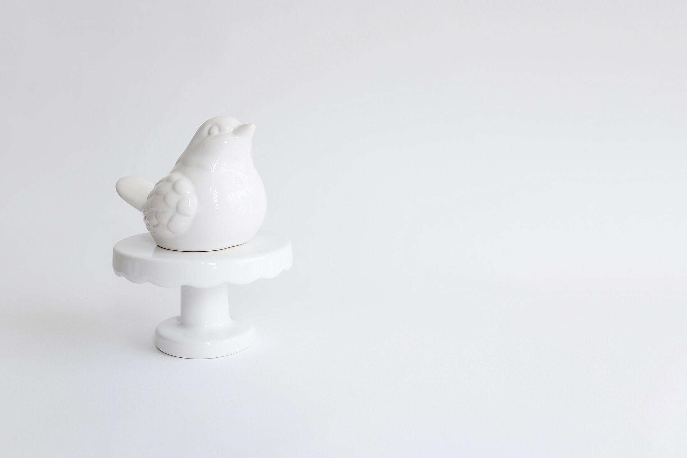 White Bird Decoration Free Stock Photo