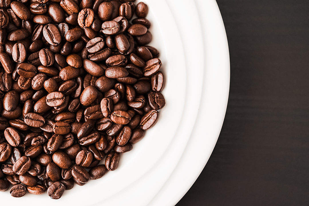 Download White Bowl Full of Coffee Beans FREE Stock Photo