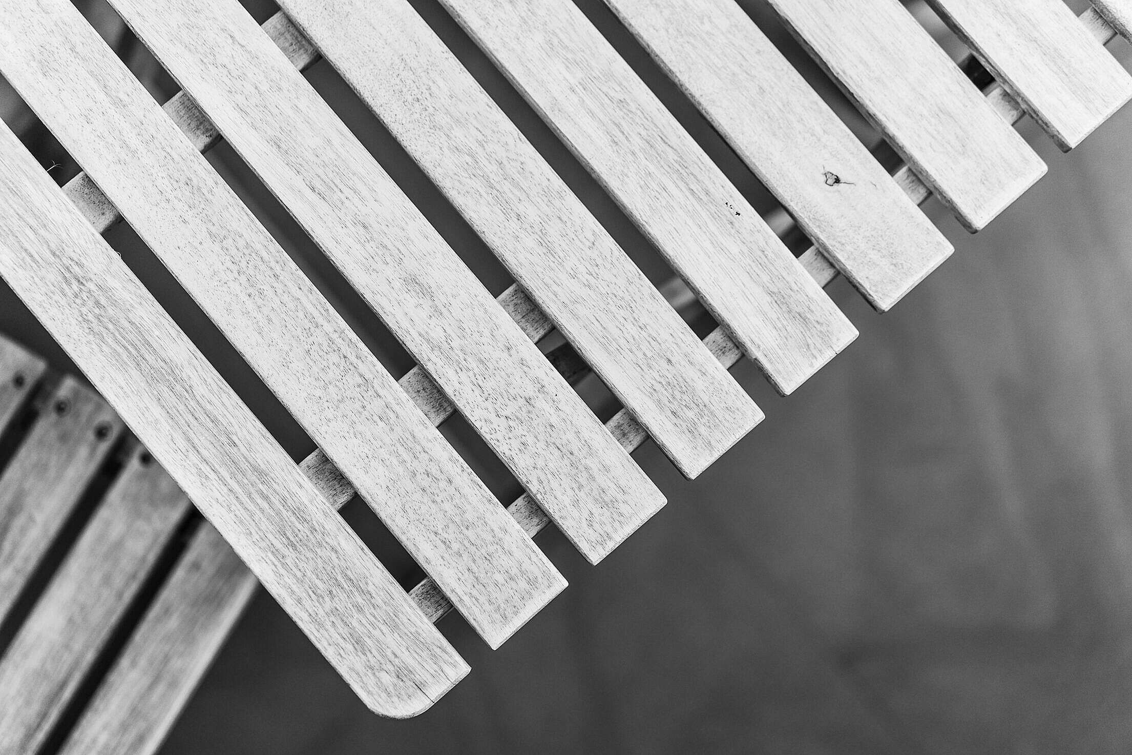 White Colored Wooden Garden Table Free Stock Photo