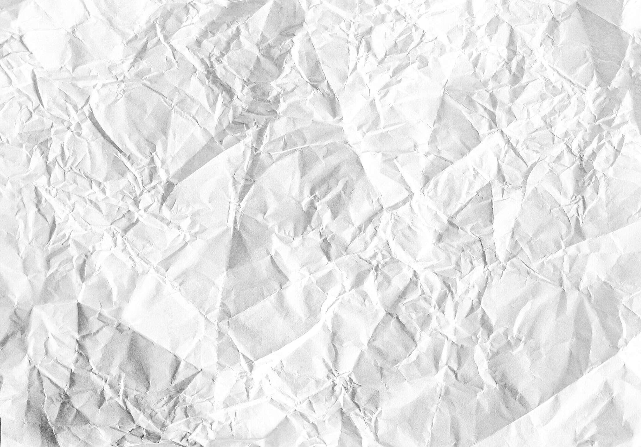 White Crumpled Paper Free Stock Photo