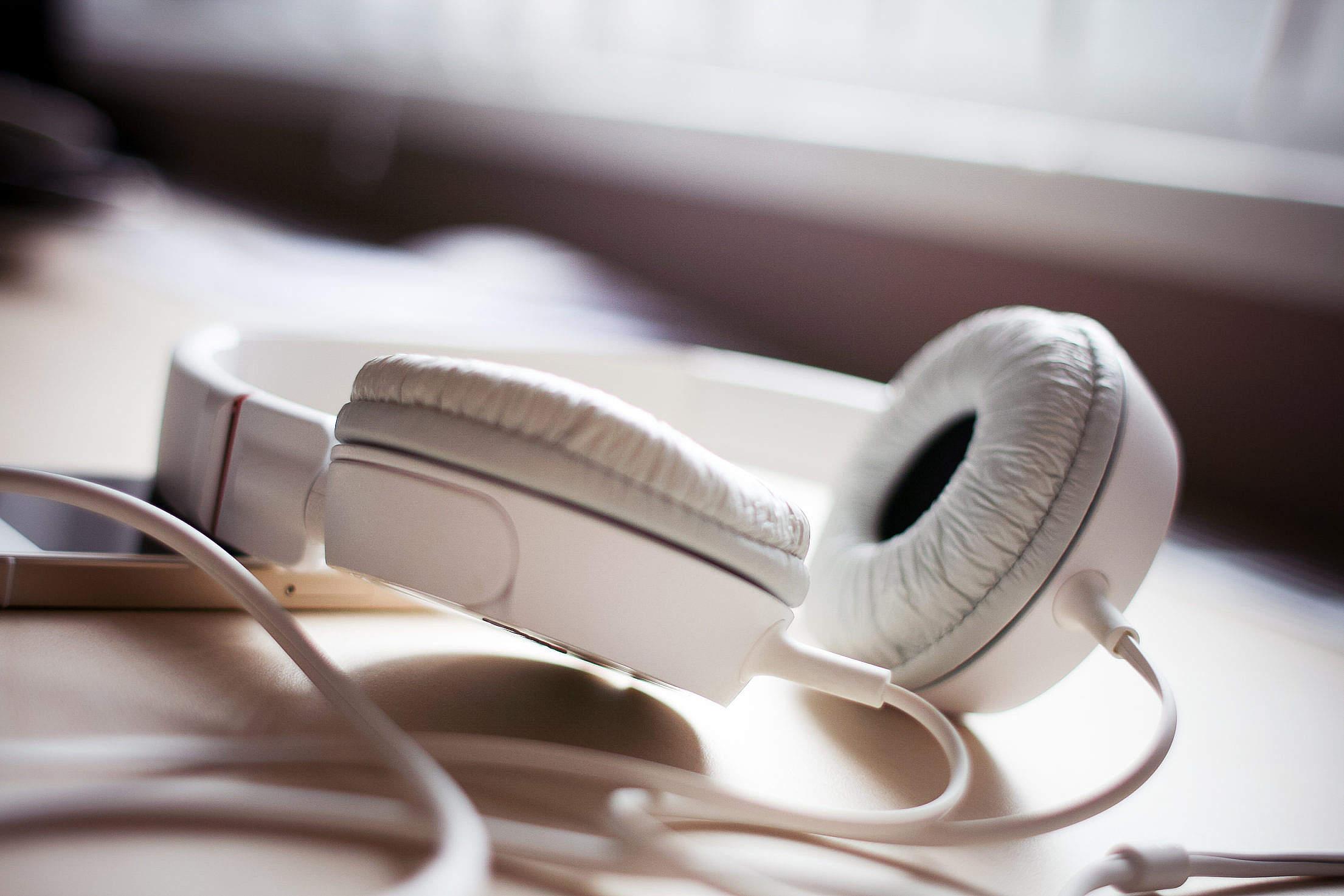White Headphones Free Stock Photo