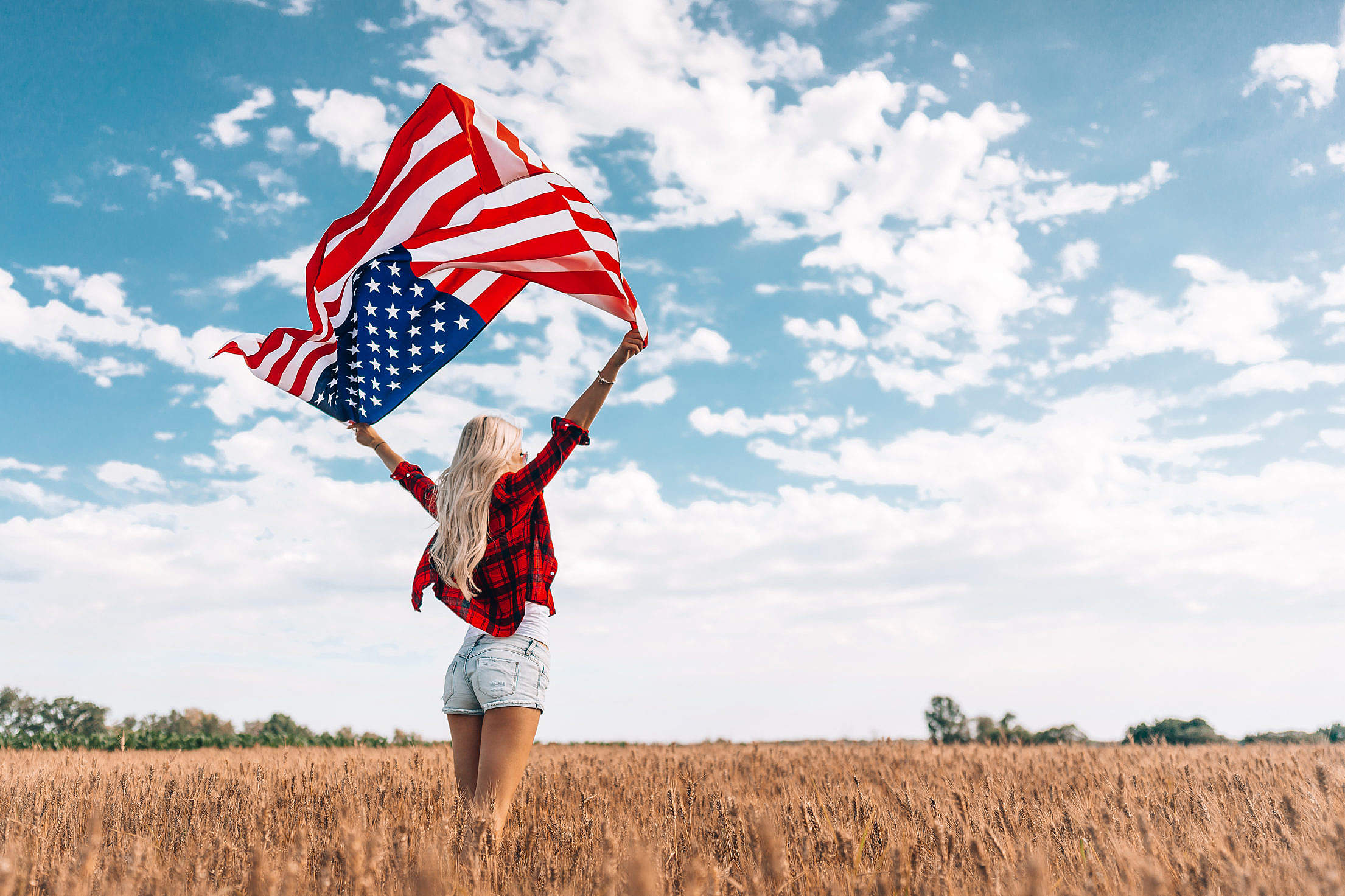 Woman Celebrating Independence Day Free Stock Photo