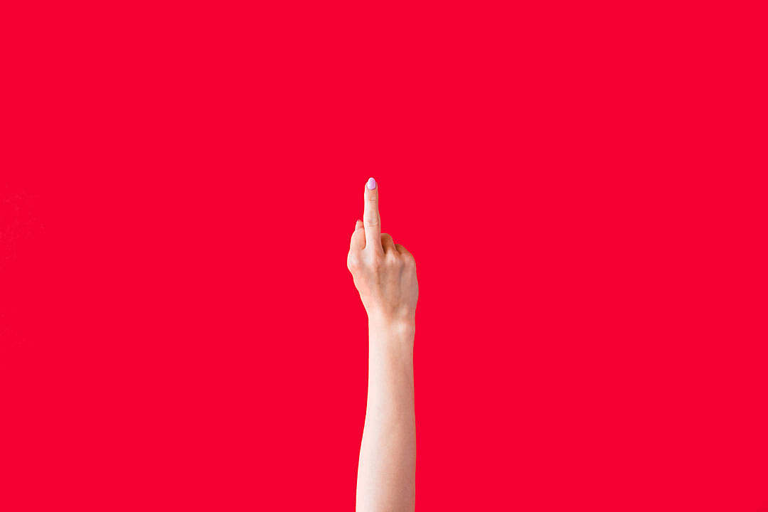 Download Woman Hand Shows Middle Finger FREE Stock Photo