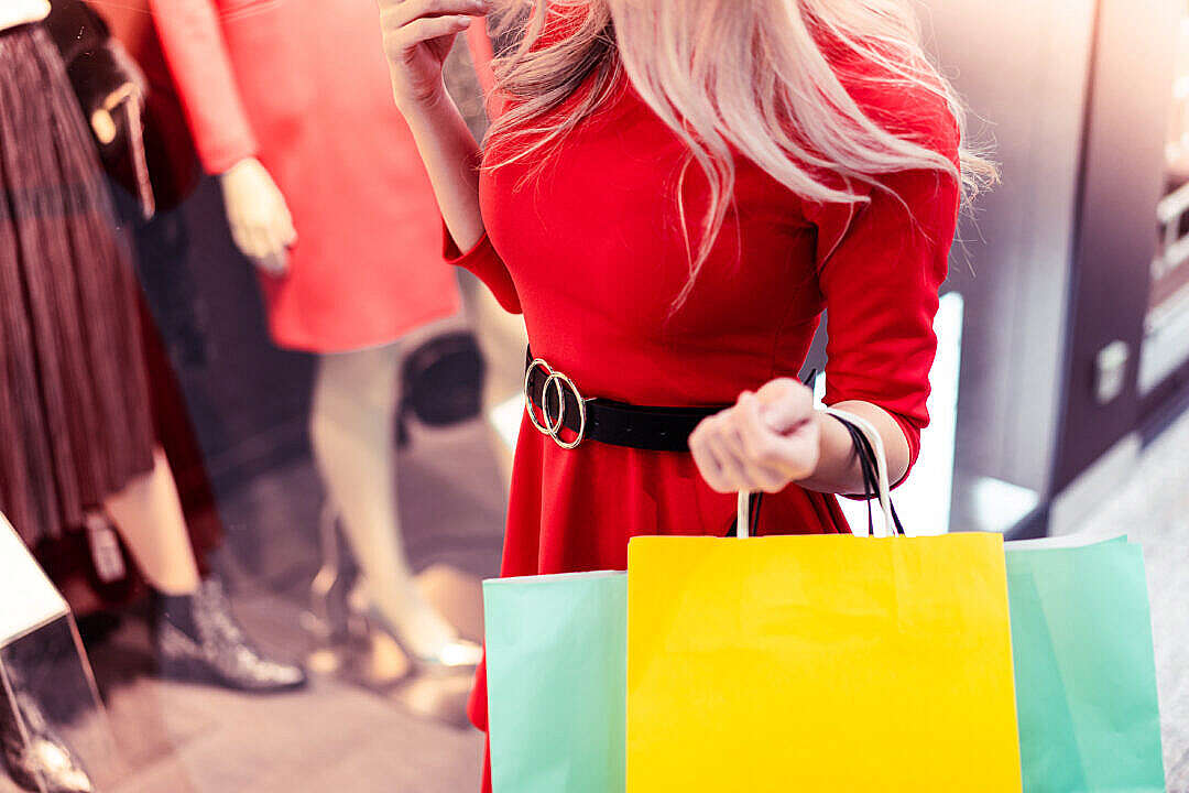 Download Woman in a Shopping Mall FREE Stock Photo