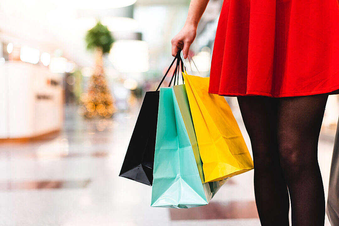 Download Woman in Shopping Mall FREE Stock Photo