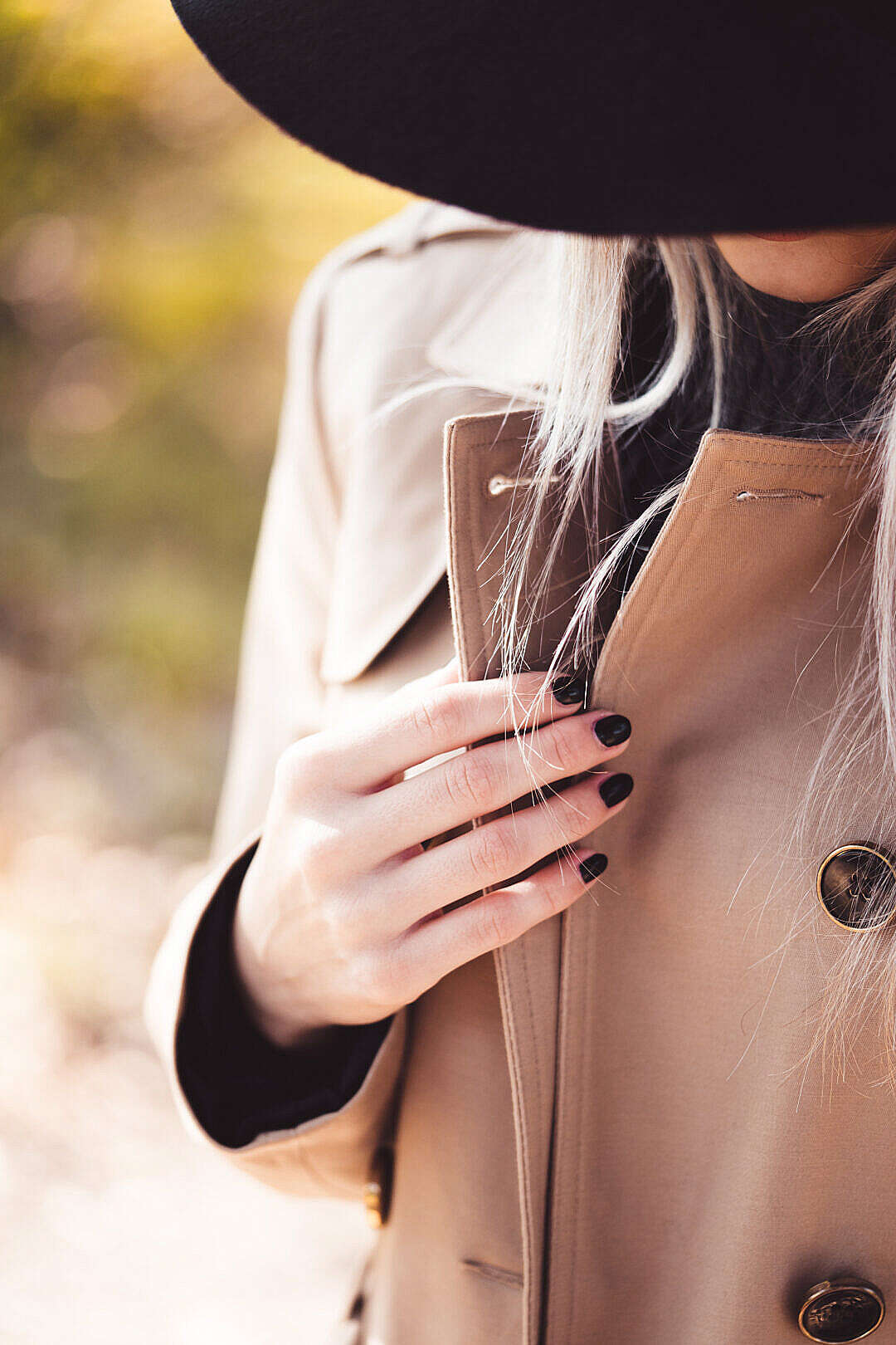 Download Woman in Trench Coat FREE Stock Photo
