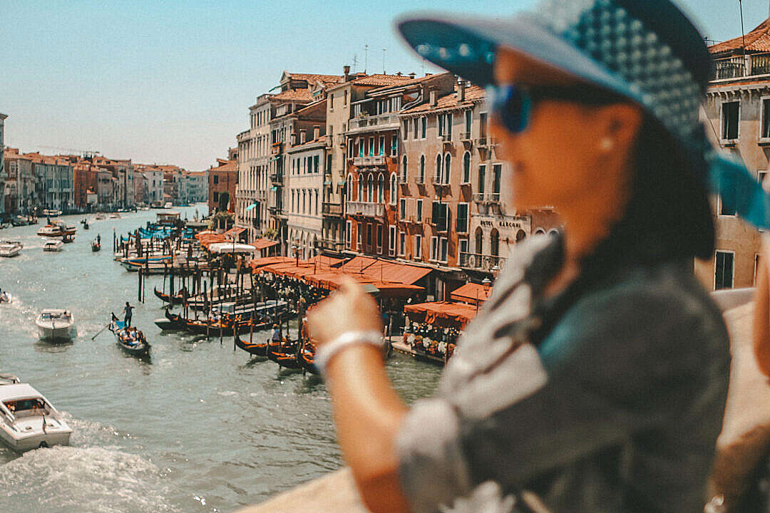 Download Woman In Venice, Italy Vintage FREE Stock Photo