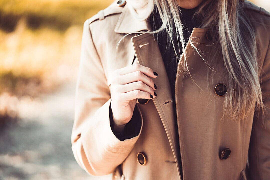 Download Woman Wearing an Elegant Brown Coat FREE Stock Photo