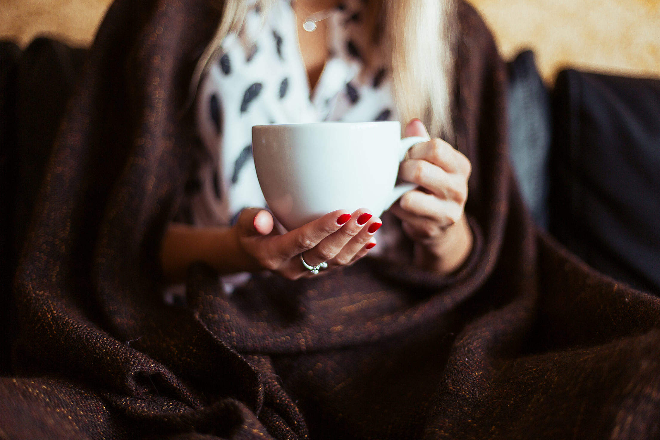 Woman with a Cup of Tea Free Stock Photo