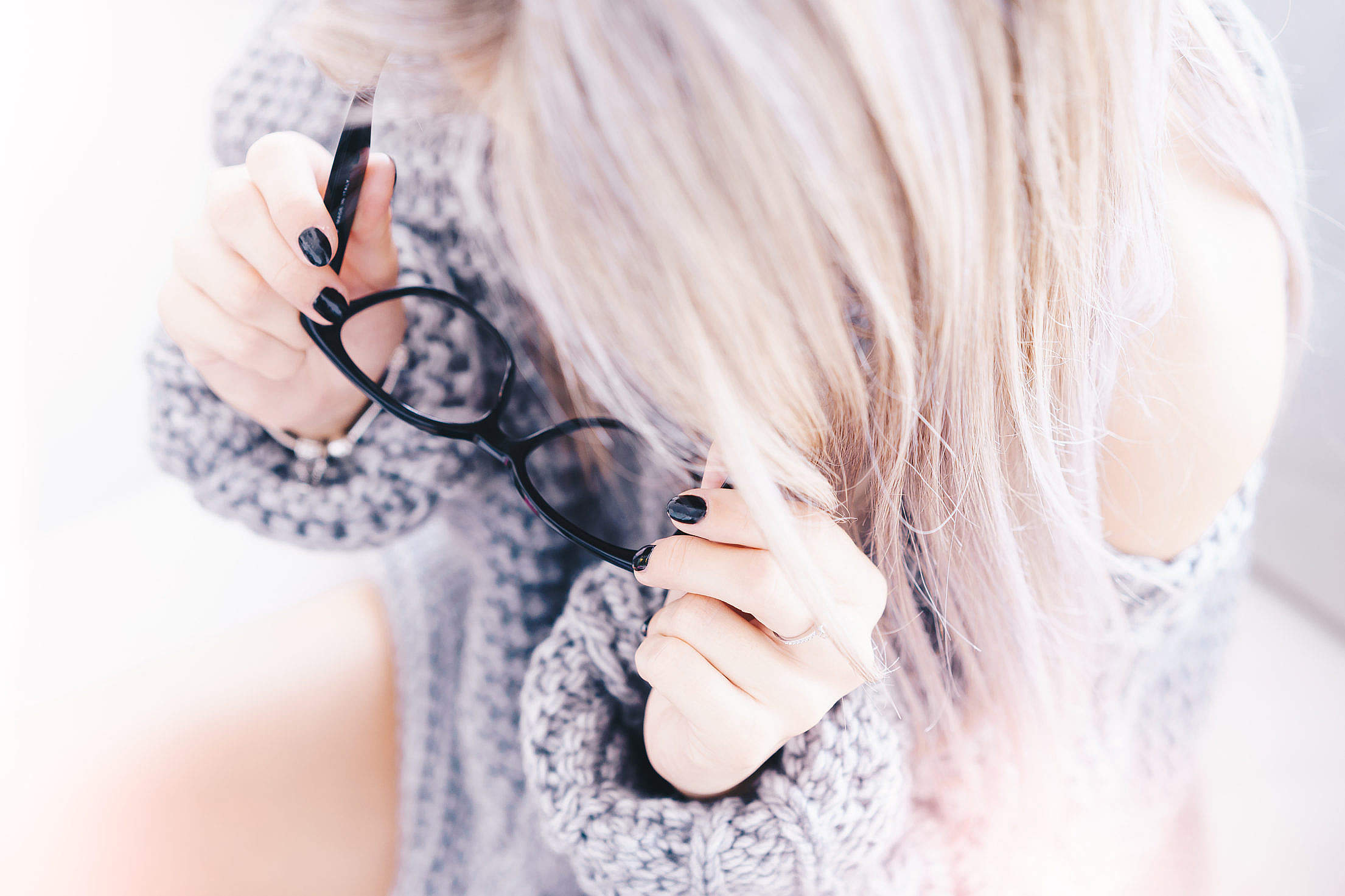 Woman With Black Glasses in Optical Store Free Stock Photo