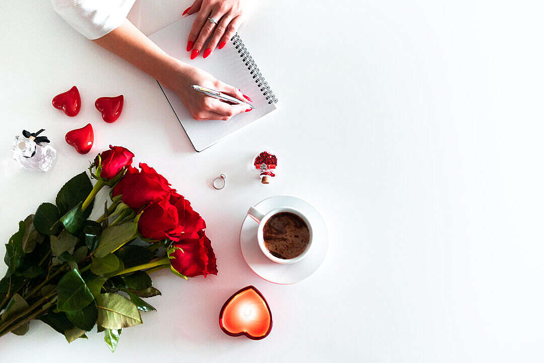 Download Woman Writing a Love Letter FREE Stock Photo