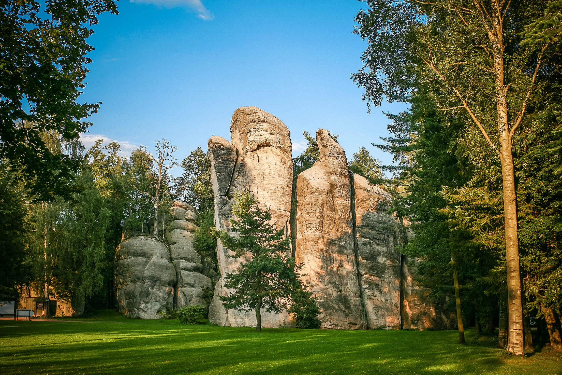 Wonderful Adrspach-Teplice Rocks Free Stock Photo