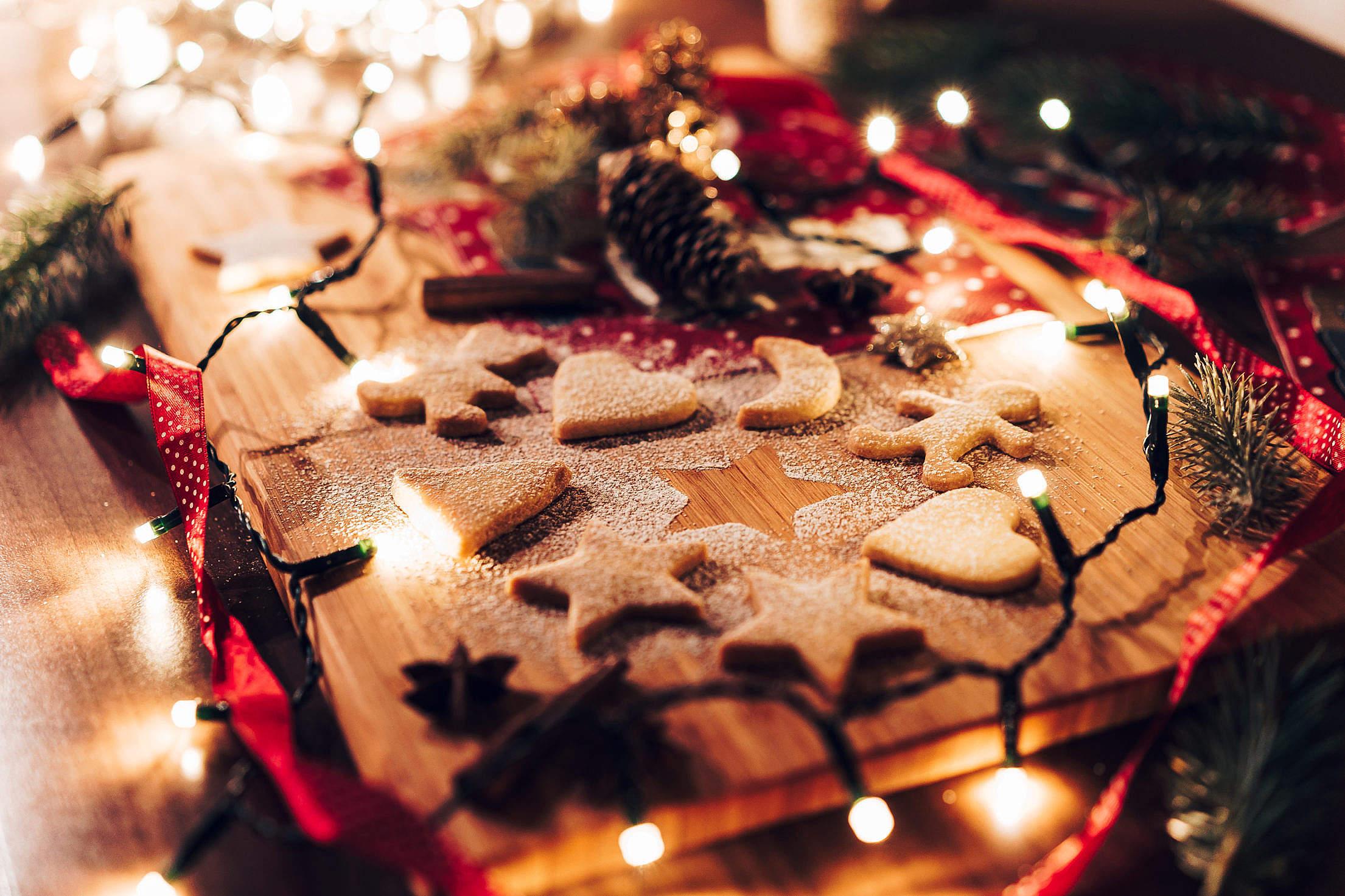 Wonderful & Sweet Christmas Cookies Free Stock Photo