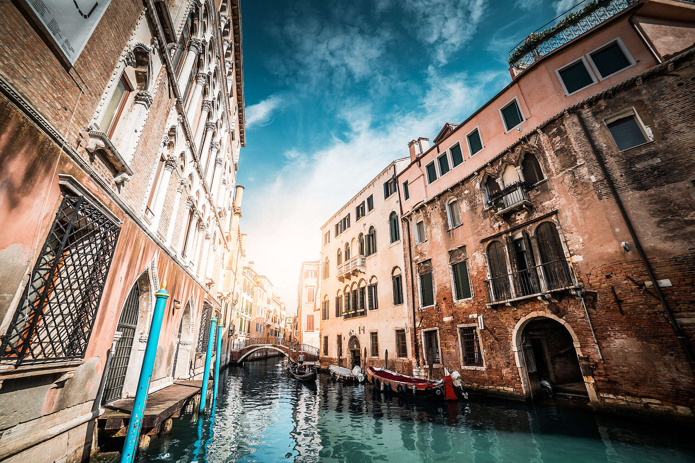 Wonderful Canals in Venice, Italy Free Stock Photo