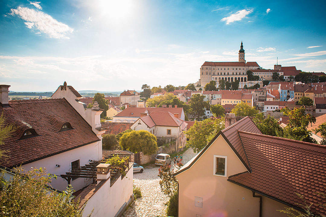 Download Wonderful City of Mikulov, Czech Republic FREE Stock Photo