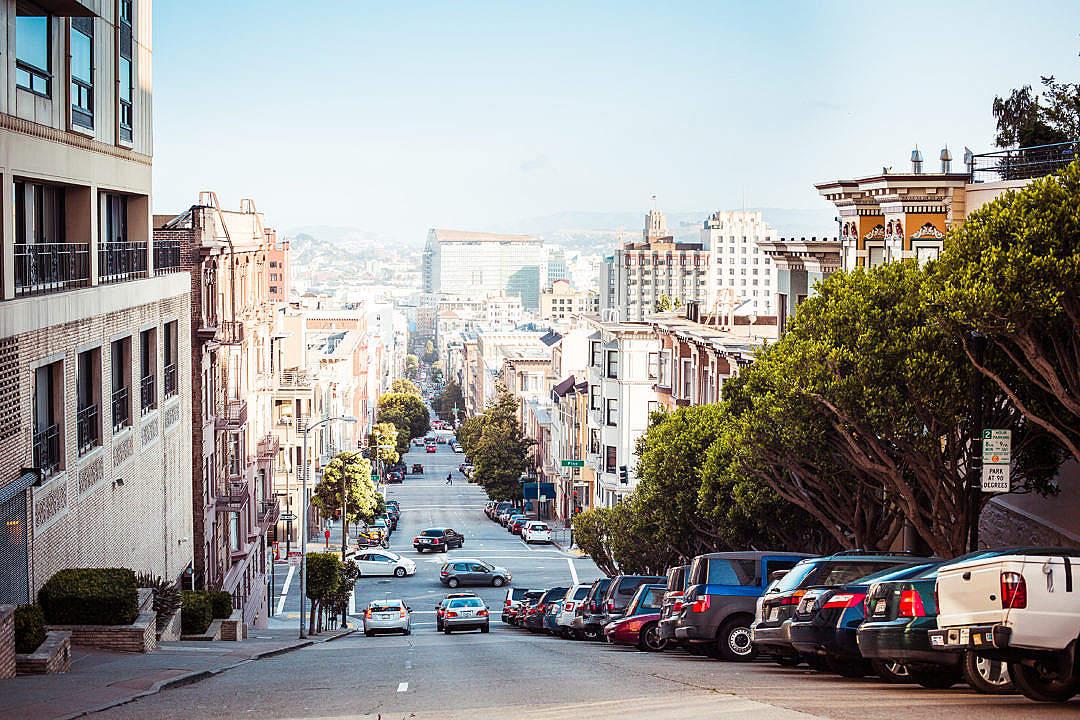 Download Wonderful View Down to San Francisco Street FREE Stock Photo