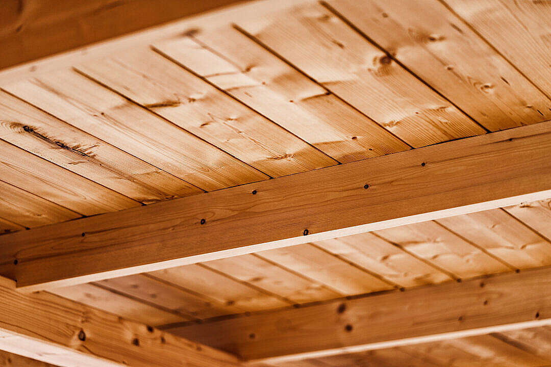 Download Wooden Beam Ceiling FREE Stock Photo