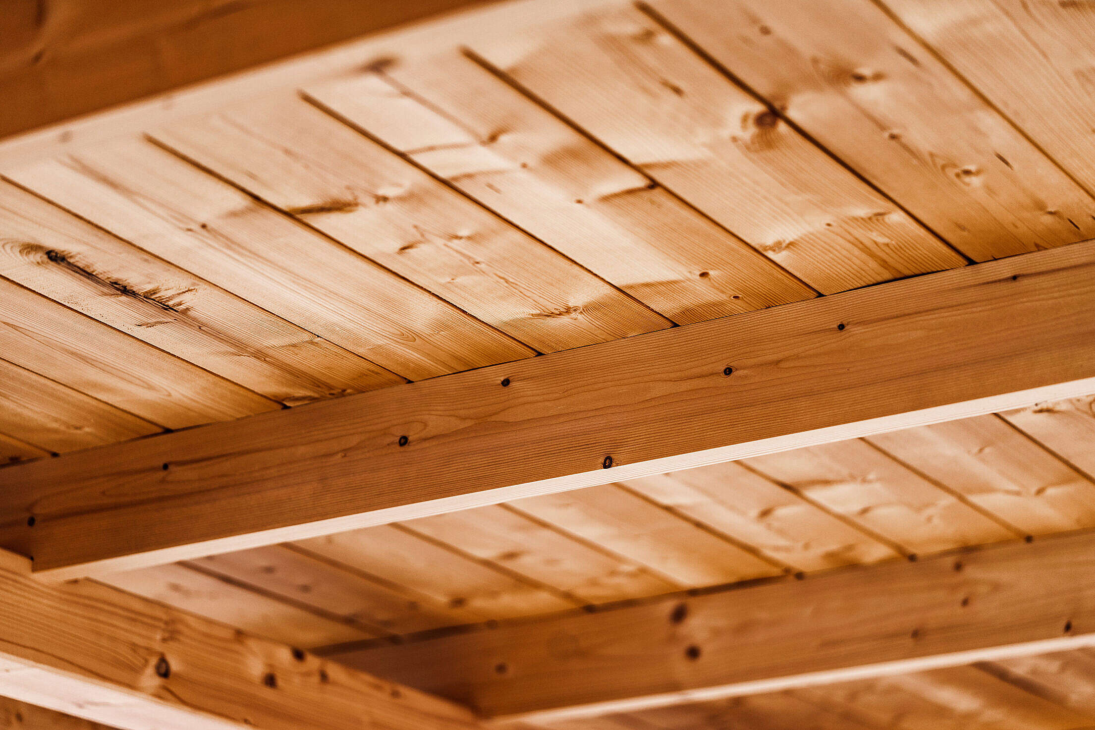 Wooden Beam Ceiling Free Stock Photo