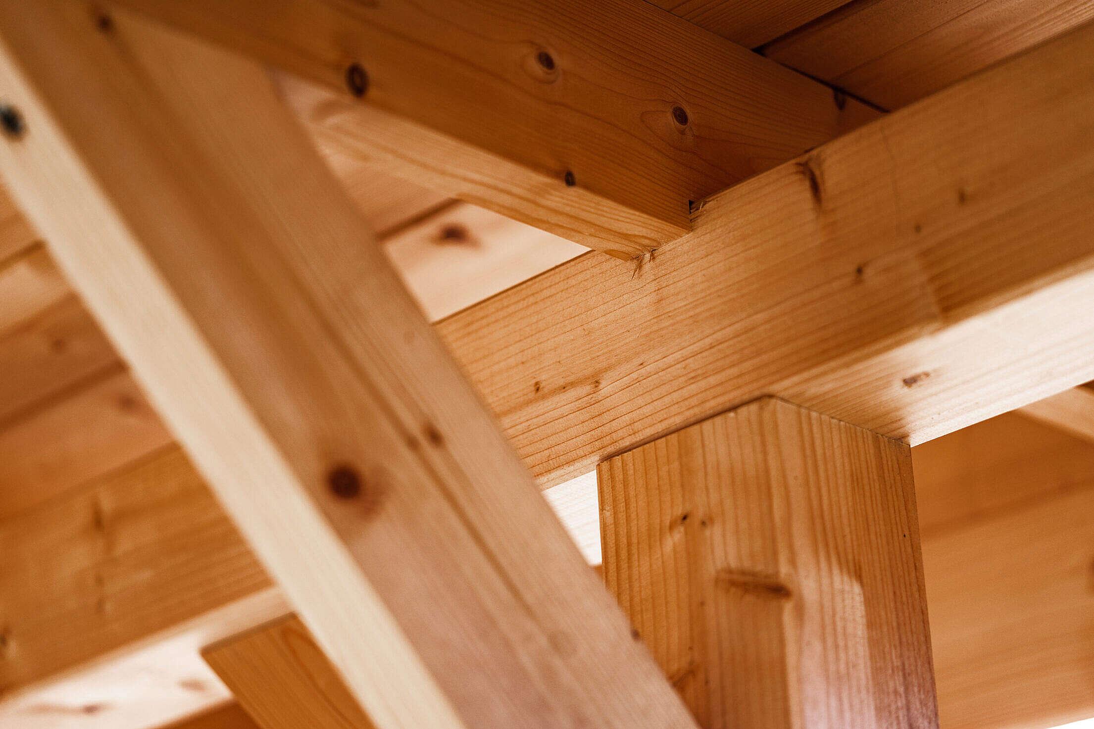 Wooden Beams Close Up Free Stock Photo
