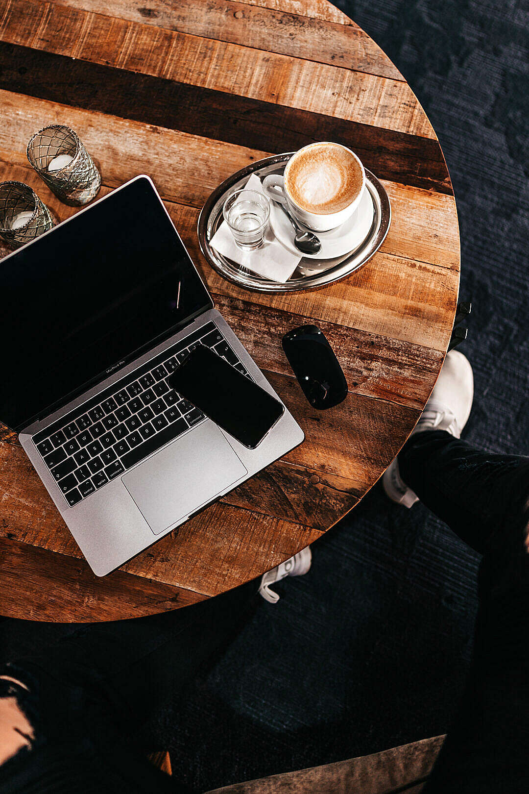 Download Work from a Cafe FREE Stock Photo