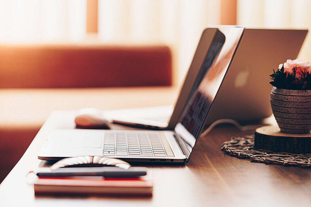 Download Work from Home Computer Job FREE Stock Photo