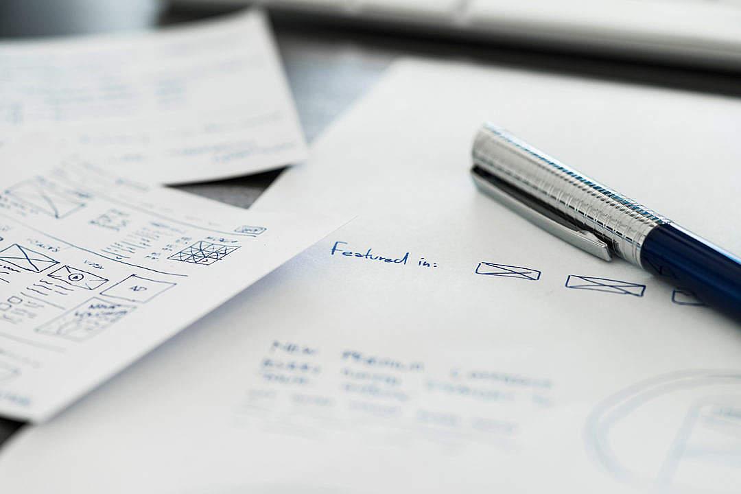 Download Work in Progress Web Design Sketches FREE Stock Photo