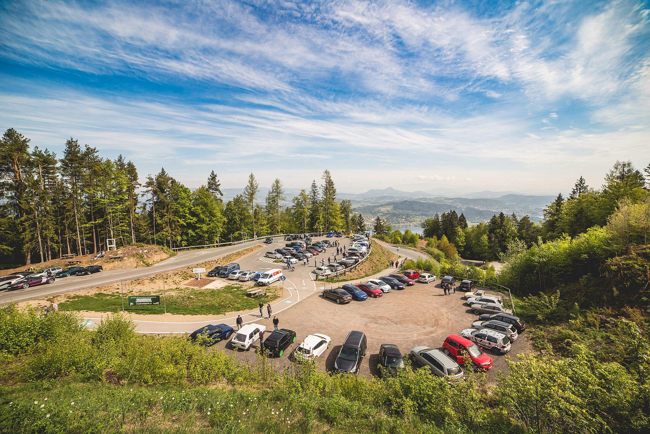 Wörthersee Treffen (car meet) Pyramidenkogel Parking Free Stock Photo
