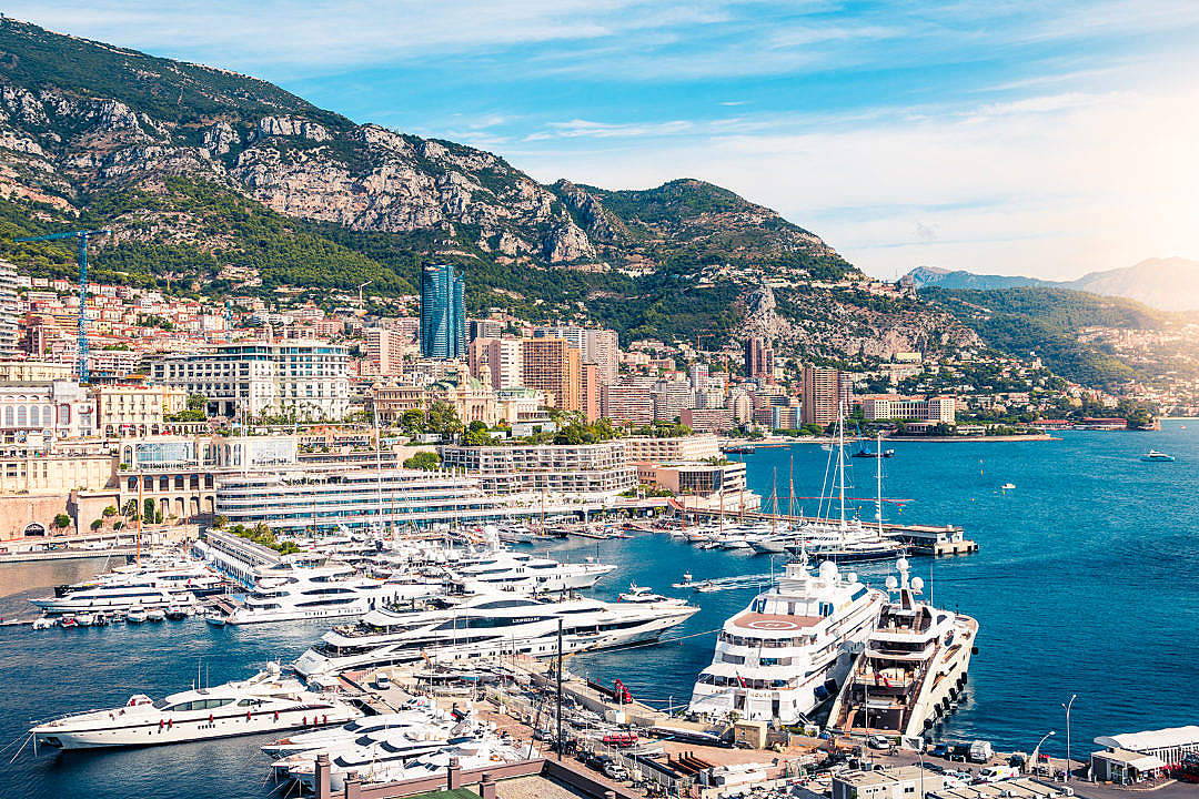 Download Yachts in Monaco FREE Stock Photo