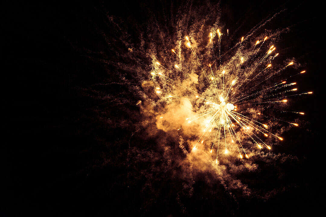 Download Yellow Fireworks FREE Stock Photo