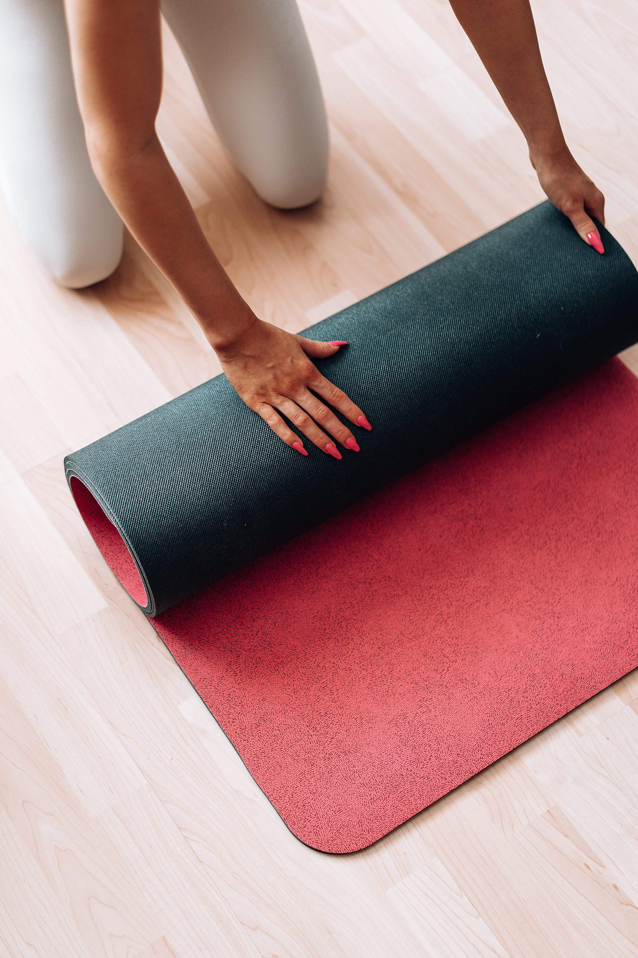 Yoga Mat Home Exercise Free Stock Photo