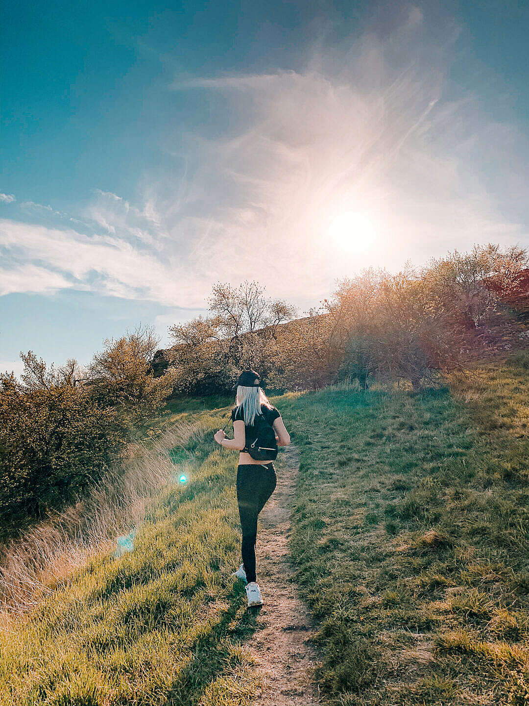 Download Young Blonde Woman On a Walk in Nature FREE Stock Photo