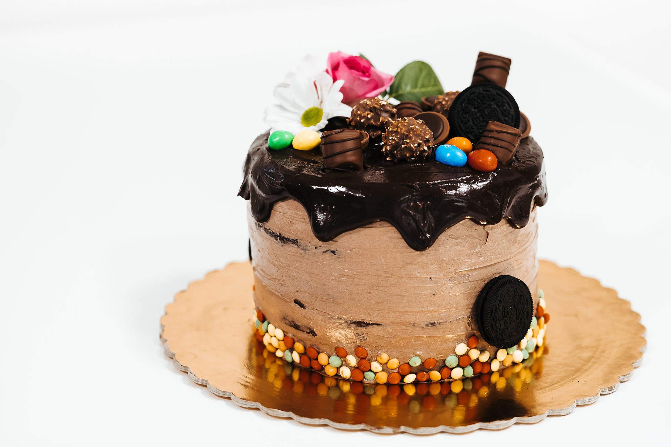Yummy Homemade Birthday Cake Free Stock Photo