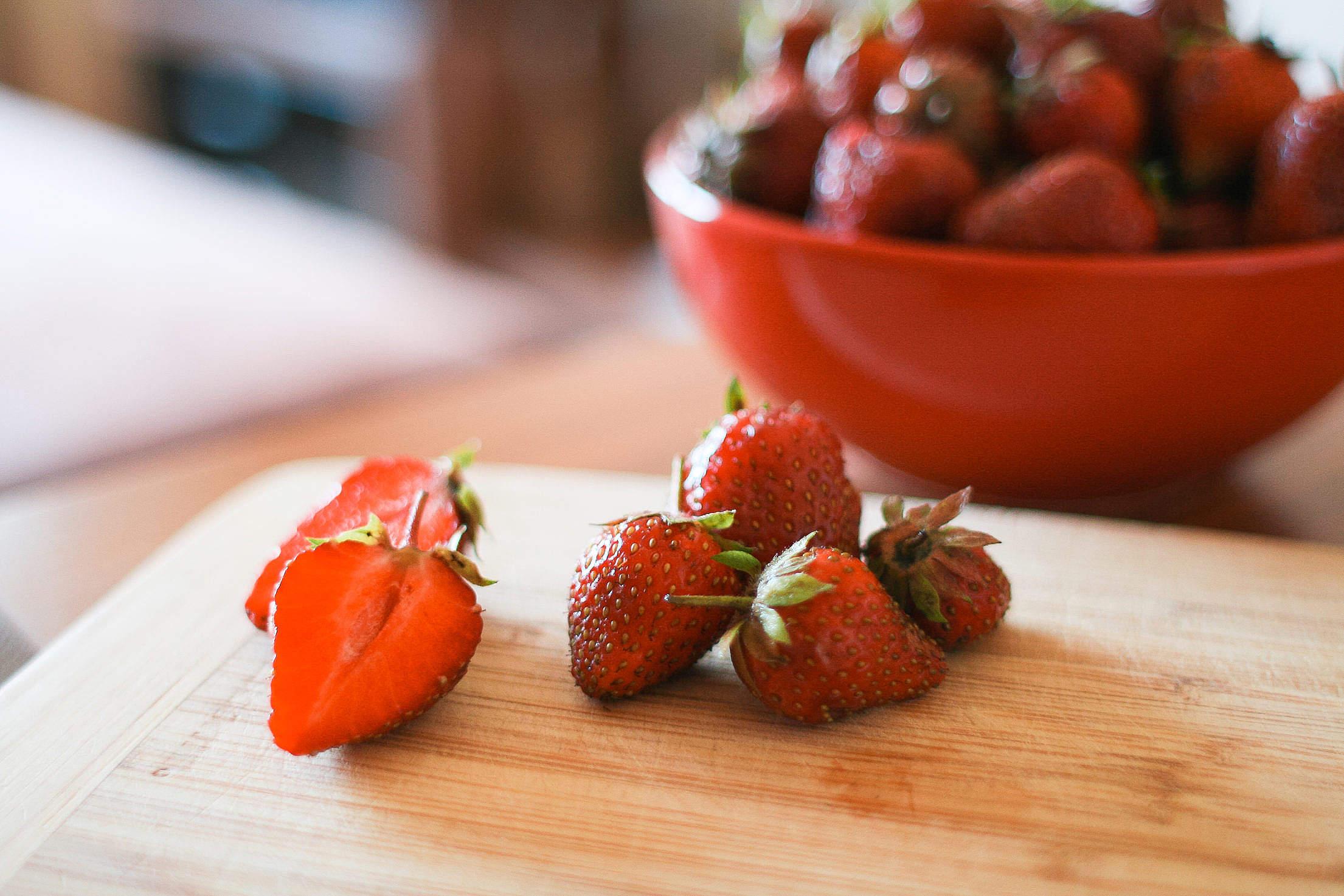 Yummy Strawberries Free Stock Photo