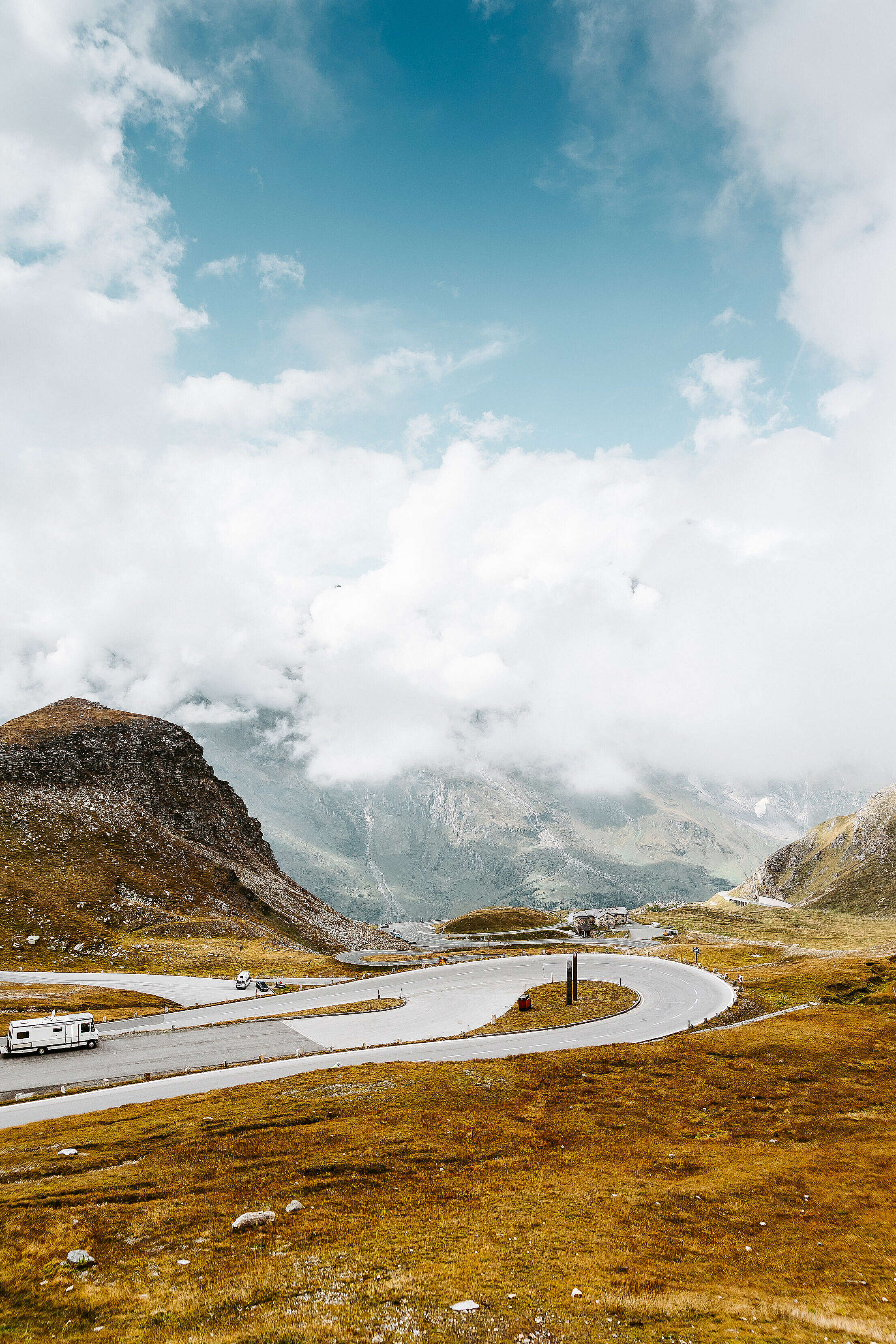 ZigZag Turns on Grossglockner High Alpine Road, Austria Free Stock Photo